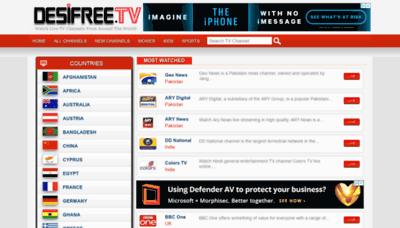What Desifree.tv website looks like in 2021