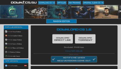 What Down-cs.su website looks like in 2021