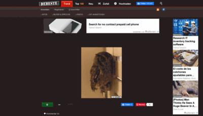 What Debeste.de website looks like in 2021