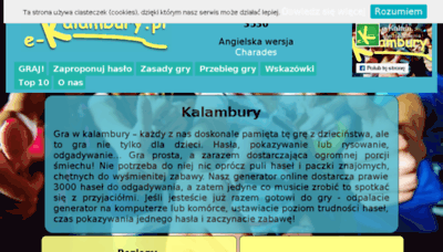 What E-kalambury.pl website looked like in 2017 (4 years ago)