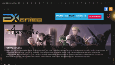 What Exanime.net website looked like in 2017 (3 years ago)