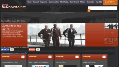 What Ezmovies.net website looked like in 2017 (4 years ago)
