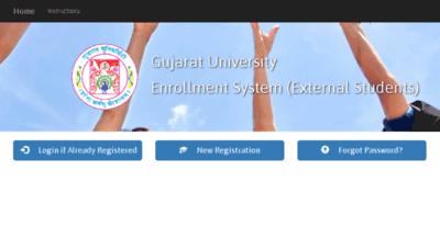 What Extenroll.gujaratuniversity.ac.in website looked like in 2017 (3 years ago)