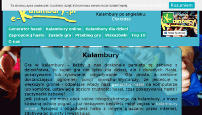 What E-kalambury.pl website looked like in 2017 (3 years ago)
