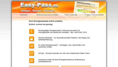 What Easy-pass.de website looked like in 2017 (3 years ago)