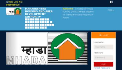 What Emitrapranali.mhada.gov.in website looked like in 2018 (3 years ago)