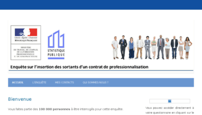 What Enquetecontratpro.fr website looked like in 2018 (3 years ago)