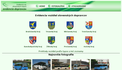 What Evidencia-dopravcov.eu website looked like in 2018 (2 years ago)
