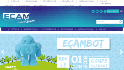 What Ecam-rennes.fr website looked like in 2018 (3 years ago)