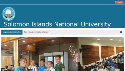 What Elearn.sinu.edu.sb website looked like in 2018 (3 years ago)