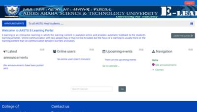 What Elearning.aastu.edu.et website looked like in 2018 (2 years ago)