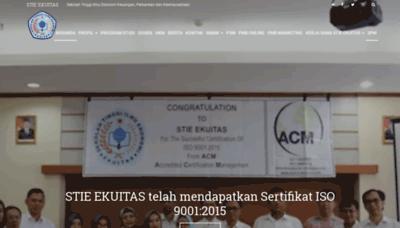 What Ekuitas.ac.id website looked like in 2019 (2 years ago)
