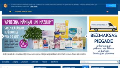 What E-menessaptieka.lv website looked like in 2019 (2 years ago)