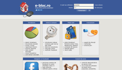 What E-bloc.ro website looked like in 2019 (2 years ago)