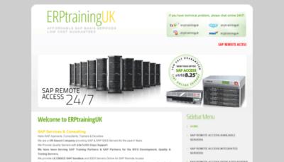 What Erptraininguk.net website looked like in 2019 (2 years ago)