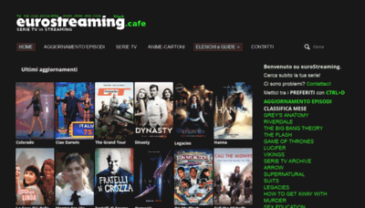 What Eurostreaming.cafe website looked like in 2019 (2 years ago)