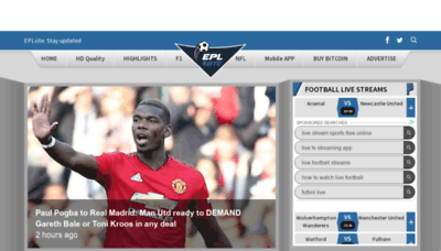 What Eplsite.football website looked like in 2019 (2 years ago)