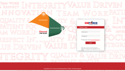 What Emforce.emcure.co.in website looked like in 2019 (2 years ago)