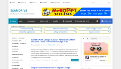 What Examdrive.in website looked like in 2019 (2 years ago)