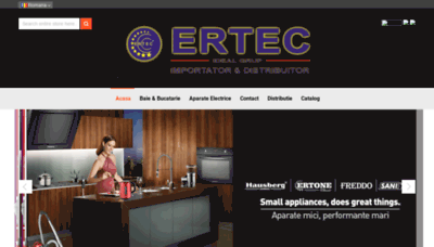 What Ertec.ro website looked like in 2019 (1 year ago)
