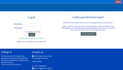 What Elearning.aastu.edu.et website looked like in 2019 (2 years ago)