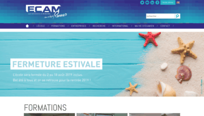 What Ecam-rennes.fr website looked like in 2019 (2 years ago)