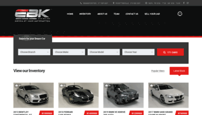 What Ebkautodealers.co.za website looked like in 2019 (1 year ago)