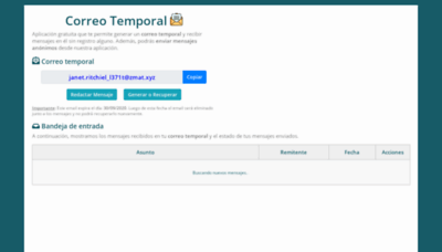 What Emailtemporal.org website looked like in 2019 (1 year ago)