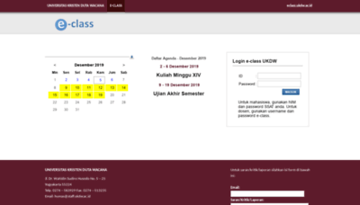 What Eclass.ukdw.ac.id website looked like in 2019 (1 year ago)