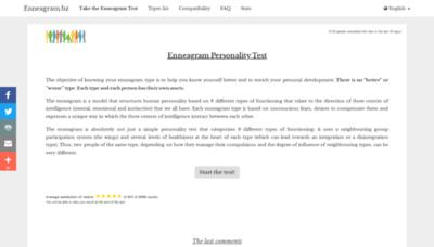 What Enneagram.bz website looked like in 2020 (1 year ago)