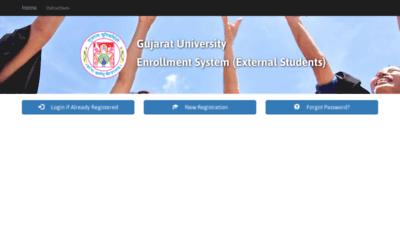 What Extenroll.gujaratuniversity.ac.in website looked like in 2020 (1 year ago)