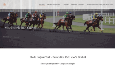 What Etoile-du-jour-turf.fr website looked like in 2020 (1 year ago)