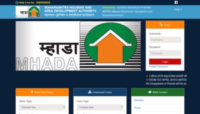 What Emitrapranali.mhada.gov.in website looked like in 2020 (1 year ago)