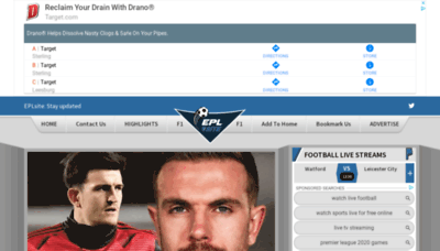 What Eplsite.football website looked like in 2020 (1 year ago)