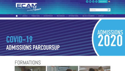 What Ecam-rennes.fr website looked like in 2020 (1 year ago)