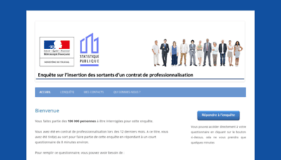 What Enquetecontratpro.fr website looked like in 2020 (This year)