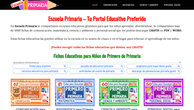 What Escuelaprimaria.net website looked like in 2020 (1 year ago)