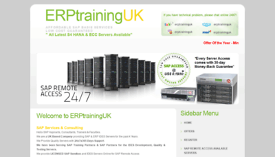 What Erptraininguk.net website looked like in 2020 (This year)