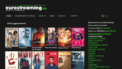 What Eurostreaming.cafe website looked like in 2020 (1 year ago)