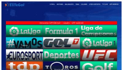 What Elitegol.me website looked like in 2020 (1 year ago)
