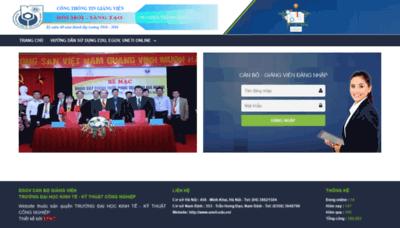 What Egov.uneti.edu.vn website looked like in 2020 (1 year ago)