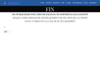 What Elitegol.me website looked like in 2020 (This year)
