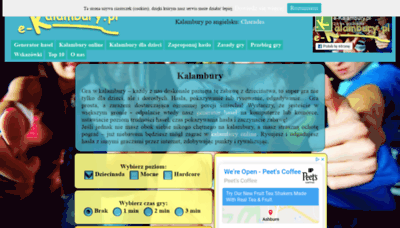 What E-kalambury.pl website looked like in 2020 (1 year ago)