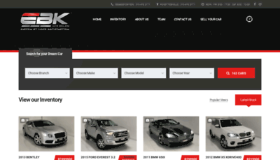What Ebkautodealers.co.za website looked like in 2020 (This year)