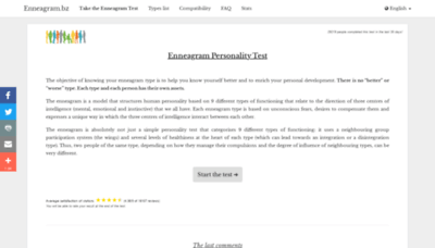 What Enneagram.bz website looked like in 2020 (This year)
