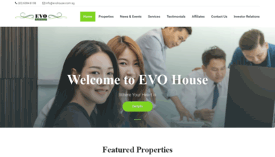 What Evohouse.com.sg website looks like in 2021