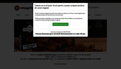 What E-tutungerie.ro website looks like in 2021