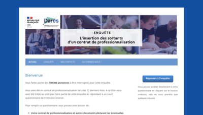 What Enquetecontratpro.fr website looks like in 2021