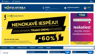 What E-menessaptieka.lv website looks like in 2021