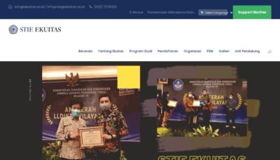 What Ekuitas.ac.id website looks like in 2021
